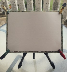 Painting board front on tripod