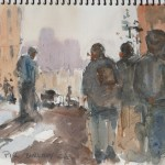 Street view Berkeley California watercolor