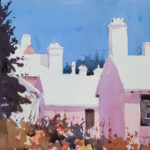 Chimneys chimneys chimneys watercolour 22x15